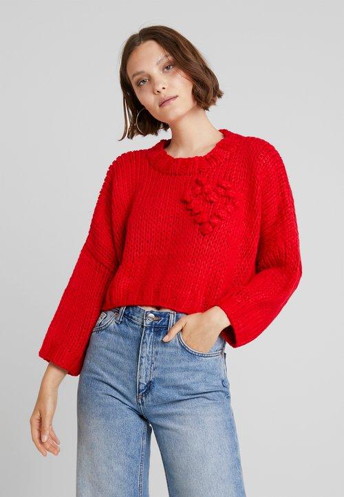 Molly Bracken YOUNG LADIES - Sweter - red Odzież Damska WVVF-FI5 wylot
