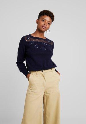 LADIES SWEATER - Stickad tröja - navy blue