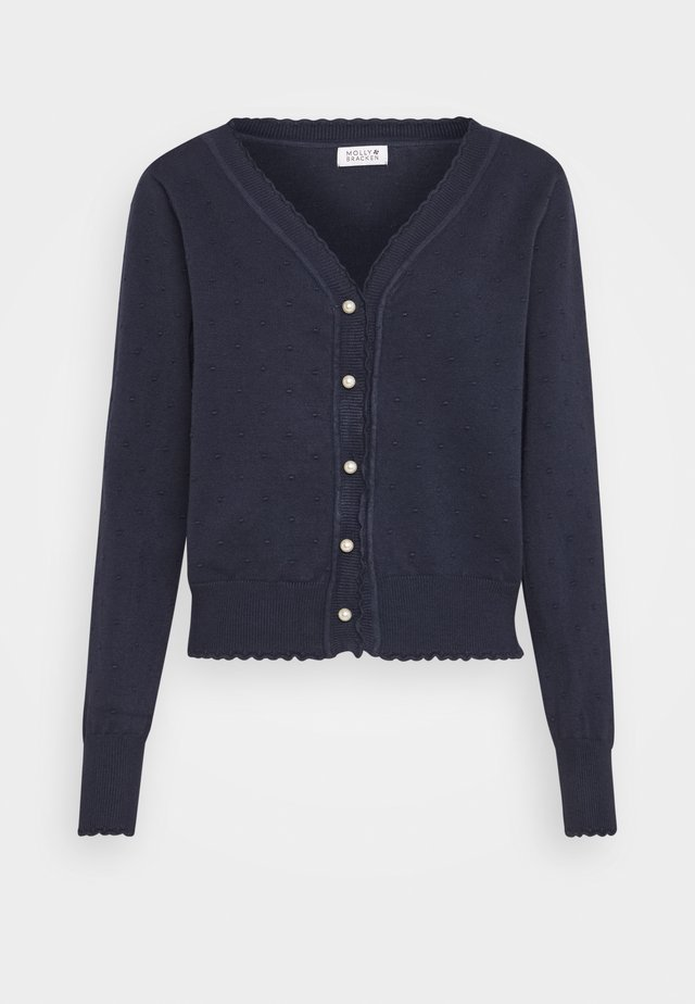 LADIES CARDIGAN - Gilet - navy blue
