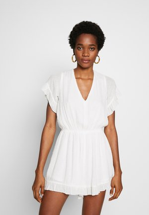 LADIES WOVEN PLAYSUIT - Combinaison - white