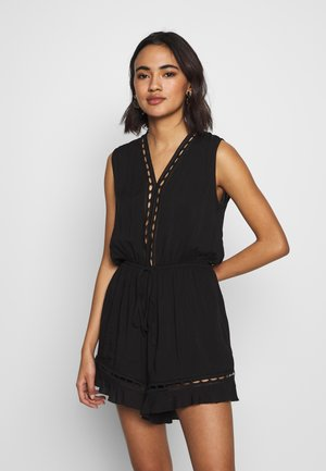 LADIES WOVEN - Overal - black