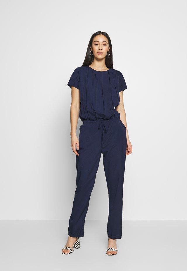 LADIES WOVEN - Overall / Jumpsuit /Buksedragter - navy blue