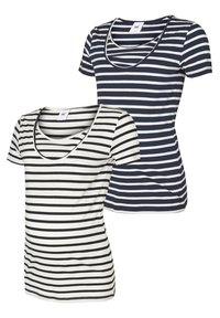 MAMALICIOUS - 2 PACK - Print T-shirt - navy blazer - 0