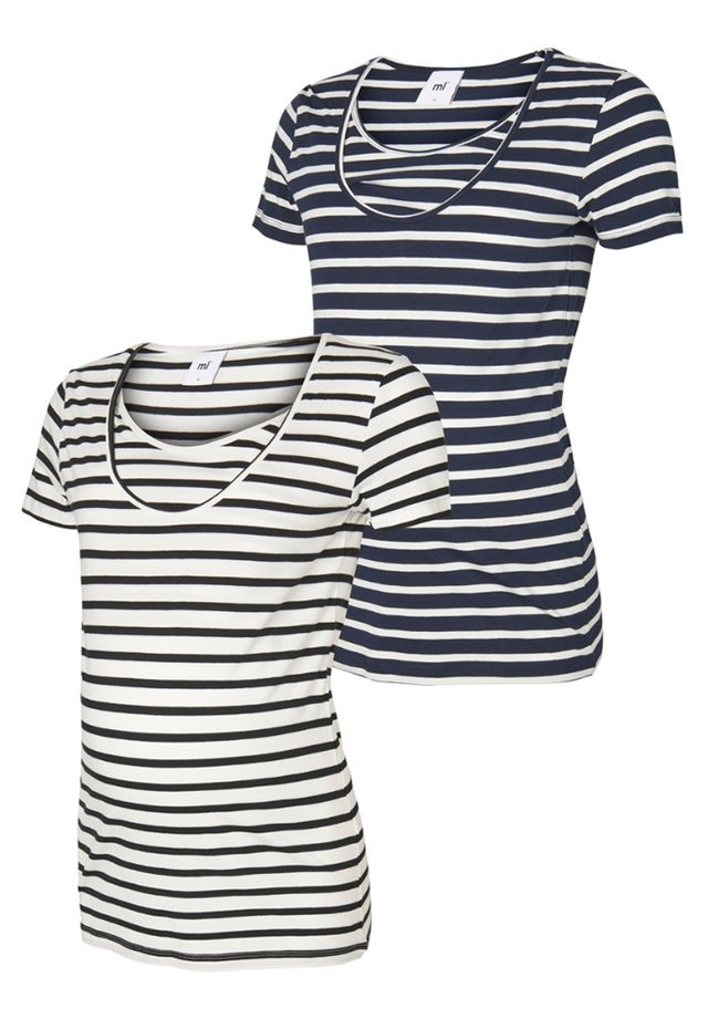 2 PACK - T-shirt z nadrukiem - navy blazer