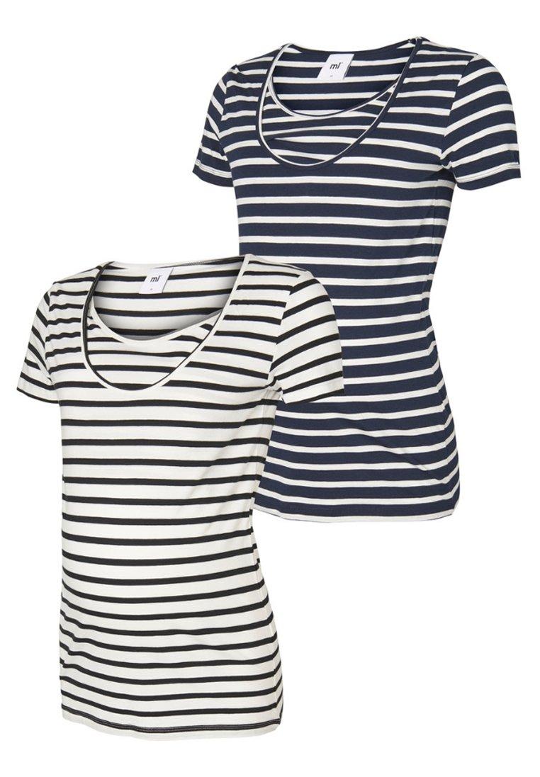 MAMALICIOUS - 2 PACK - Print T-shirt - navy blazer