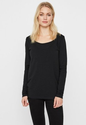 2ER-PACK - Langærmede T-shirts - black