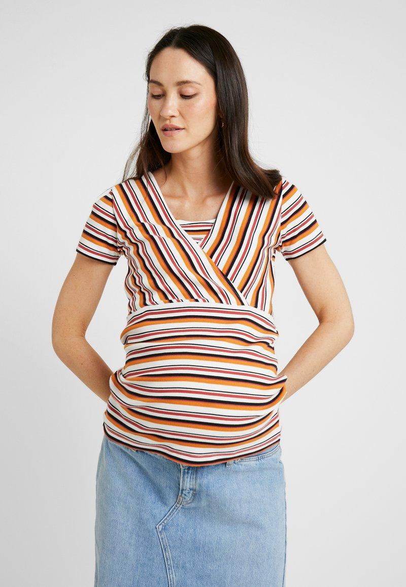 MAMALICIOUS - STILLOBERTEIL GESTREIFTES - T-Shirt print - snow white