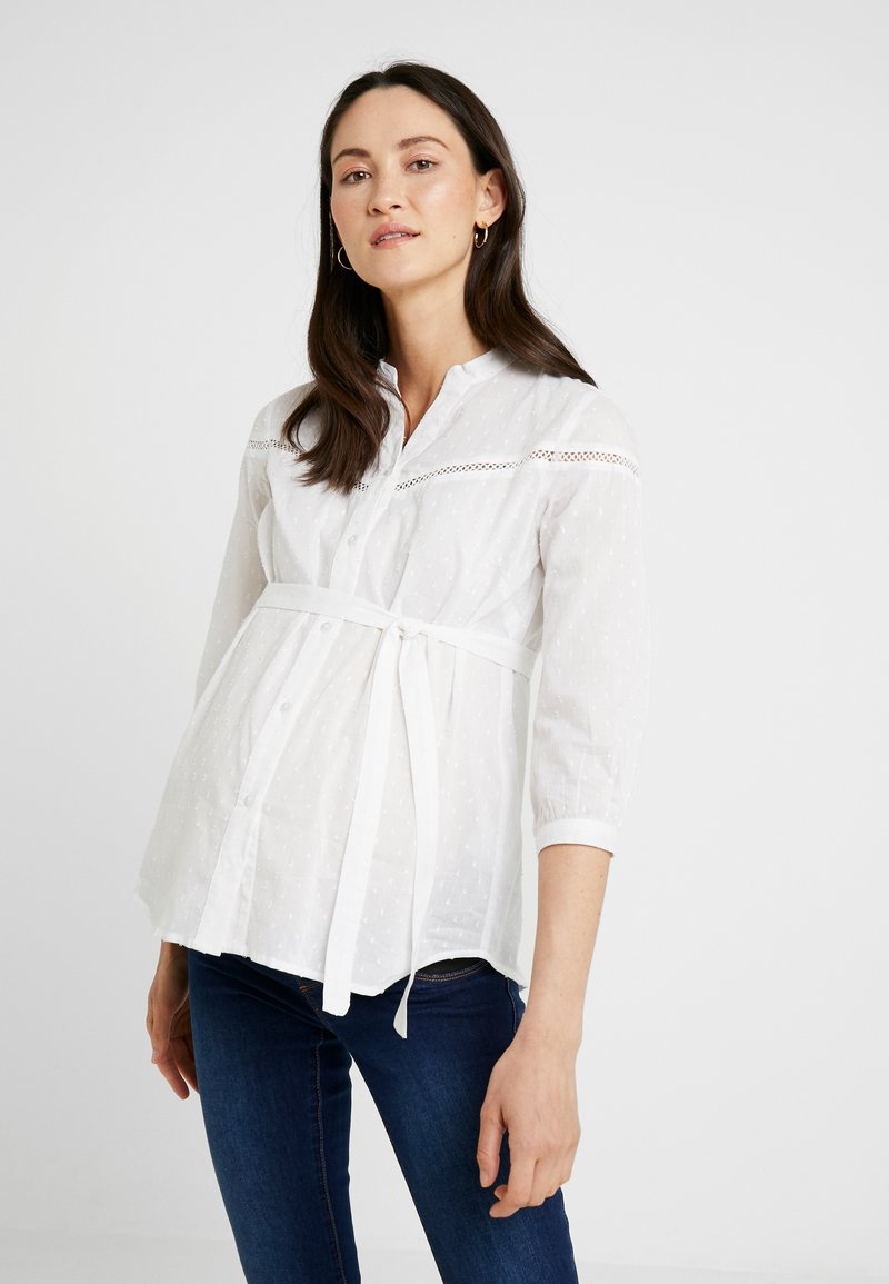 MAMALICIOUS - 3/4 ÄRMEL - Skjortebluser - bright white