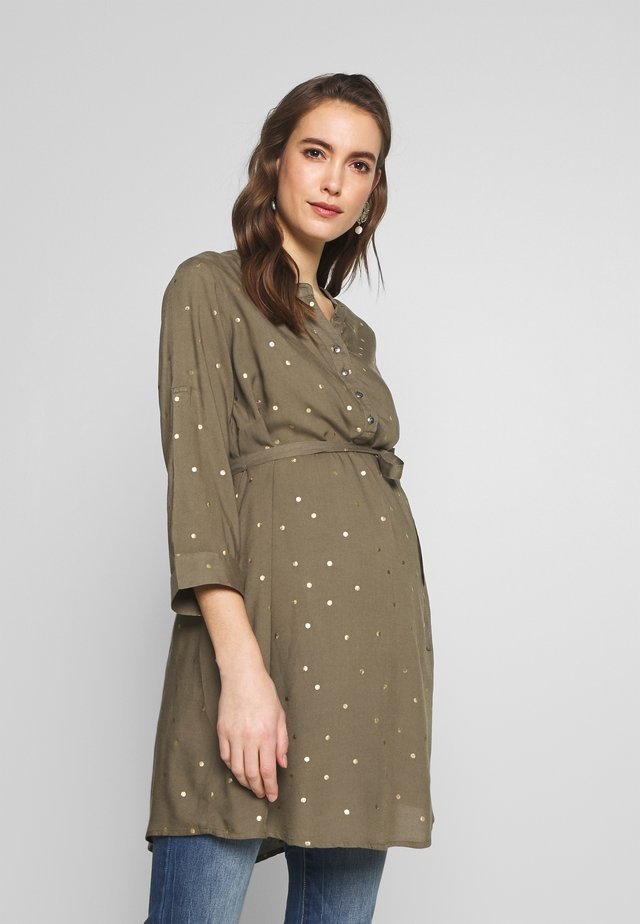 MLMERCY TUNIC - Tunika - dusty olive/gold