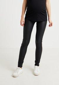 MAMALICIOUS - MLRAM COATED - Jeans slim fit - black - 0