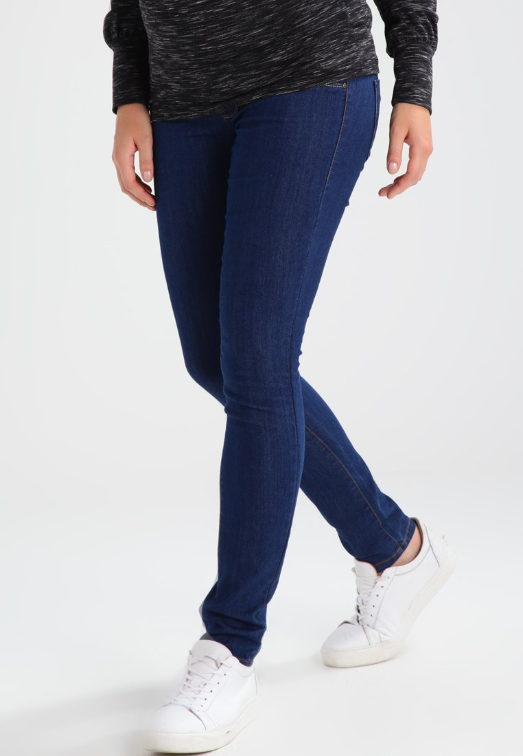 MAMALICIOUS - MLJULIA  - Slim fit jeans - med blue denim
