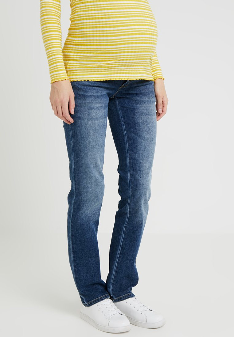 MAMALICIOUS - MLCELIA - Straight leg jeans - medium blue denim