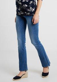 MAMALICIOUS - MLMILTON FLARE - Jeans Bootcut - light blue denim - 0