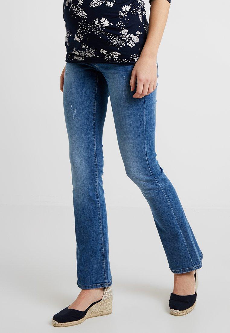 MAMALICIOUS - MLMILTON FLARE - Jeans bootcut - light blue denim