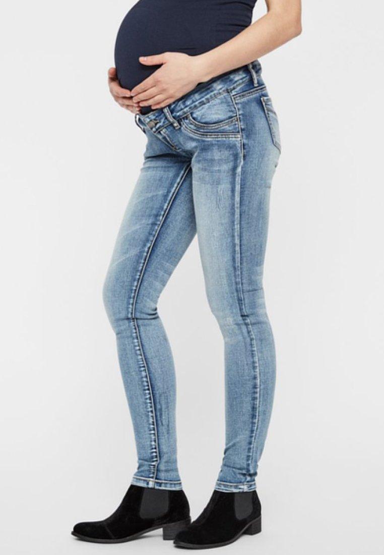 MAMALICIOUS - Slim fit jeans - light blue denim