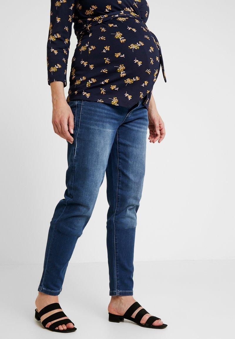 MAMALICIOUS - MLGLOBE BOYFRIEND - Jeans Slim Fit - medium blue denim