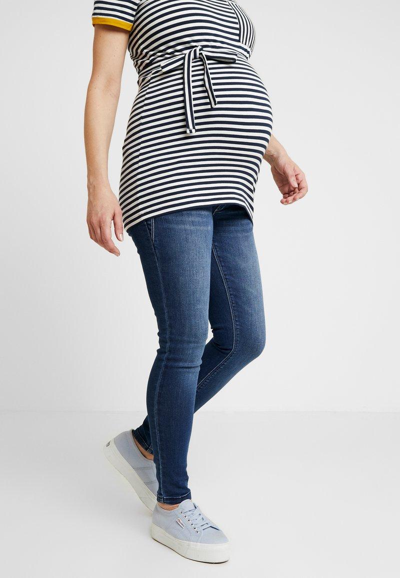 MAMALICIOUS - MLGLOBE ANKLE - Slim fit jeans - medium blue denim