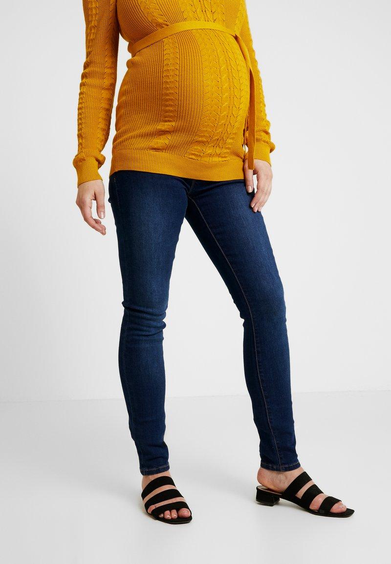MAMALICIOUS - Jeans slim fit - dark blue denim