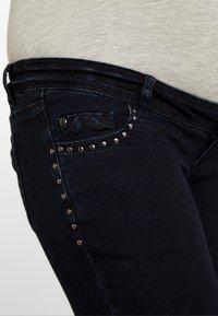 MAMALICIOUS - MLMAIN STUD - Jeans slim fit - dark blue denim - 4