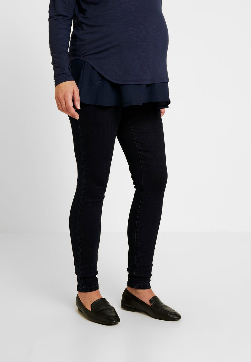 MAMALICIOUS - MLMAIN STUD - Jeans slim fit - dark blue denim