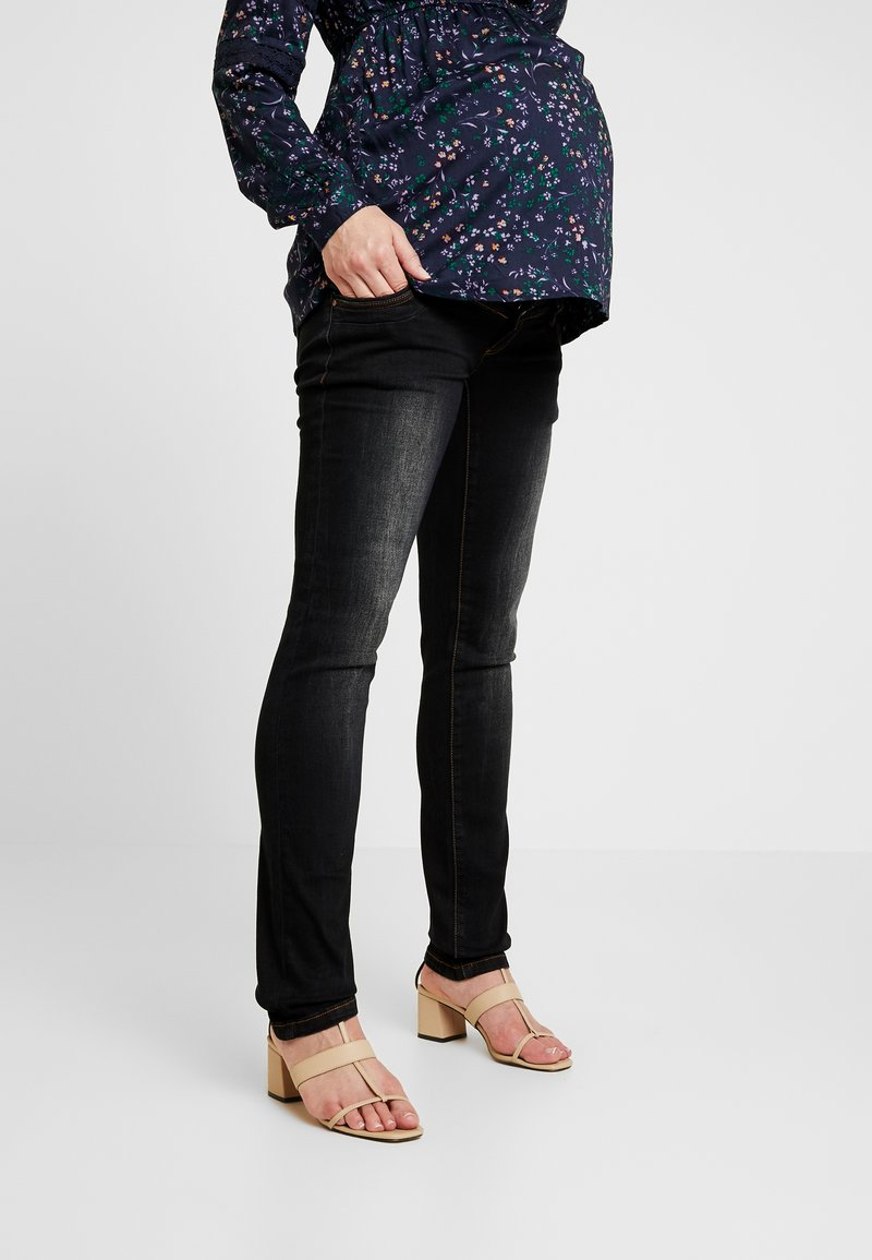 MAMALICIOUS - MLMAIN - Straight leg jeans - dark blue denim
