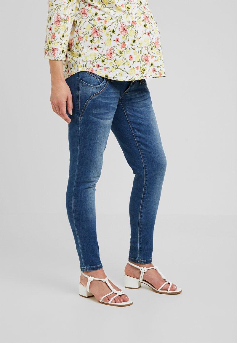 MAMALICIOUS - MLGLOBE - Slim fit jeans - dark blue denim