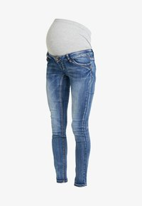 MAMALICIOUS - MLSANTIAGO PASPEL - Jeans slim fit - dark blue denim - 4