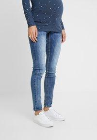 MAMALICIOUS - MLSANTIAGO PASPEL - Jeans slim fit - dark blue denim - 0