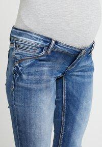 MAMALICIOUS - MLSANTIAGO PASPEL - Jeans slim fit - dark blue denim - 3