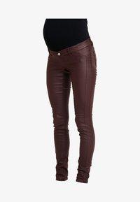 MAMALICIOUS - Jeans Slim Fit - decadent chocolate - 3