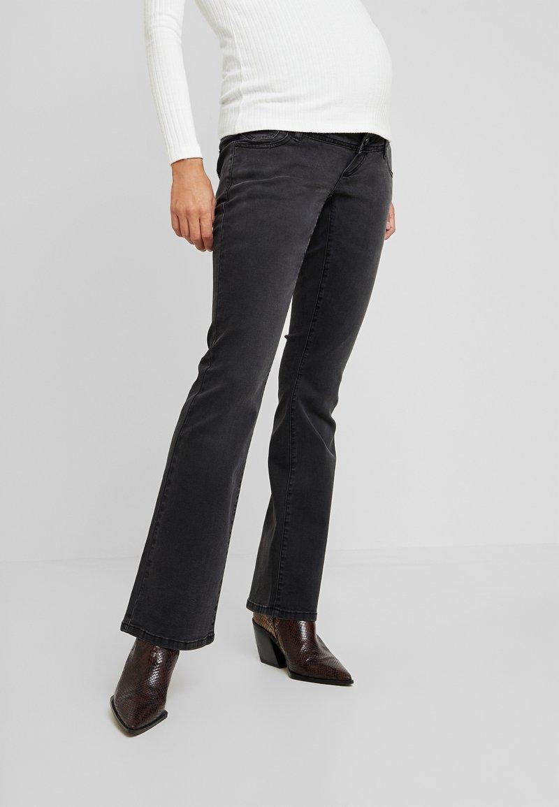 MAMALICIOUS - Jeans Bootcut - black denim