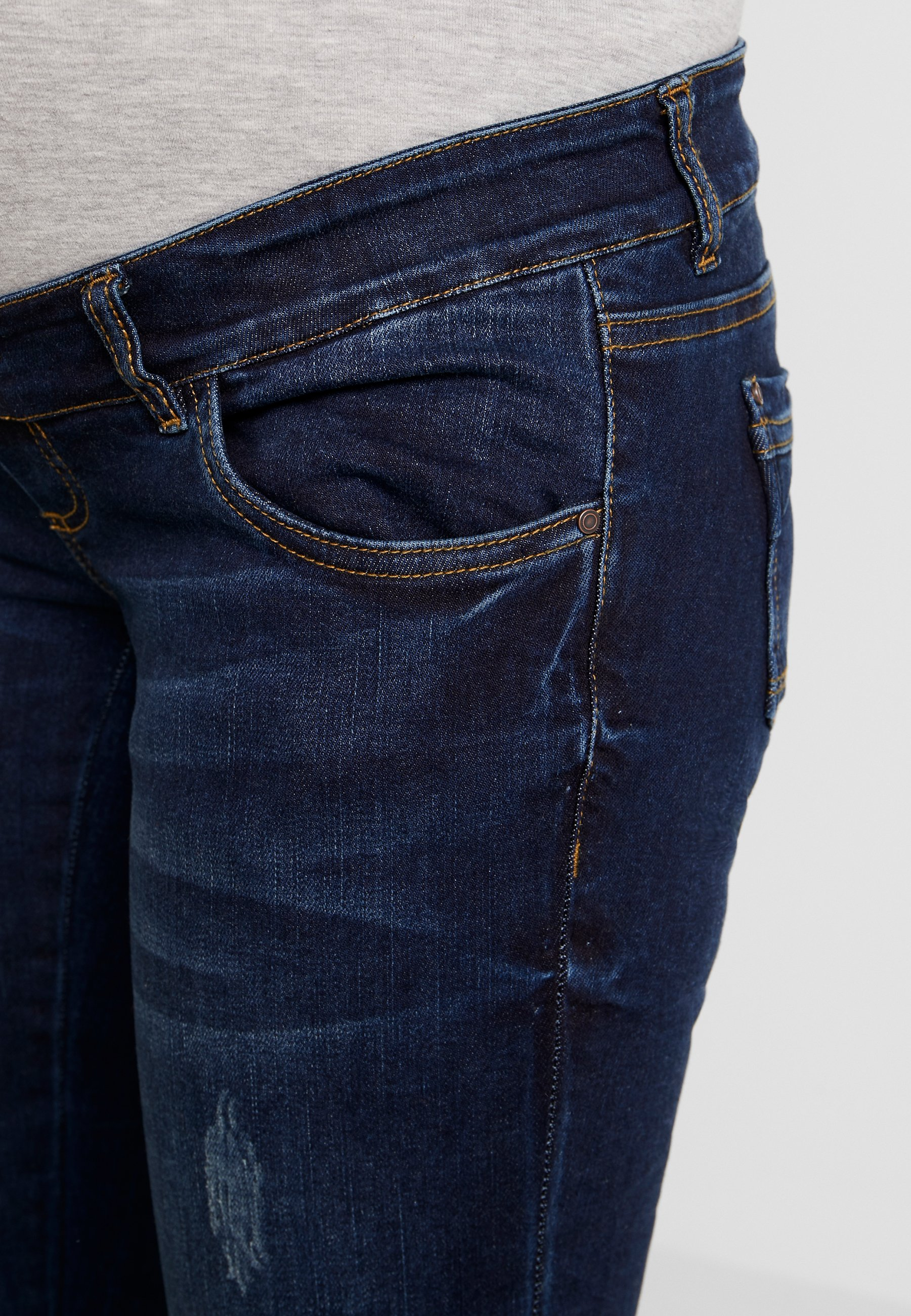 MAMALICIOUS MLUFA - Jeansy Straight Leg - dark blue denim