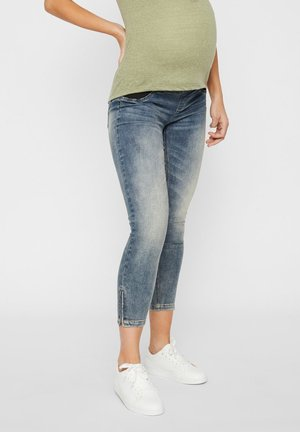 UMSTANDSJEANS CROPPED - Jeansy Skinny Fit - light blue denim