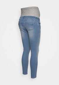 MAMALICIOUS - MLNOME 7/8 SLIM - Jeansy Skinny Fit - light blue denim - 1
