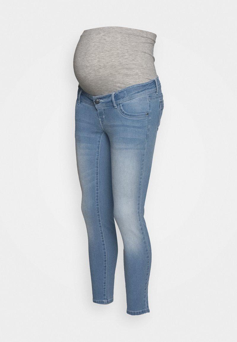 MAMALICIOUS - MLNOME 7/8 SLIM - Jeansy Skinny Fit - light blue denim