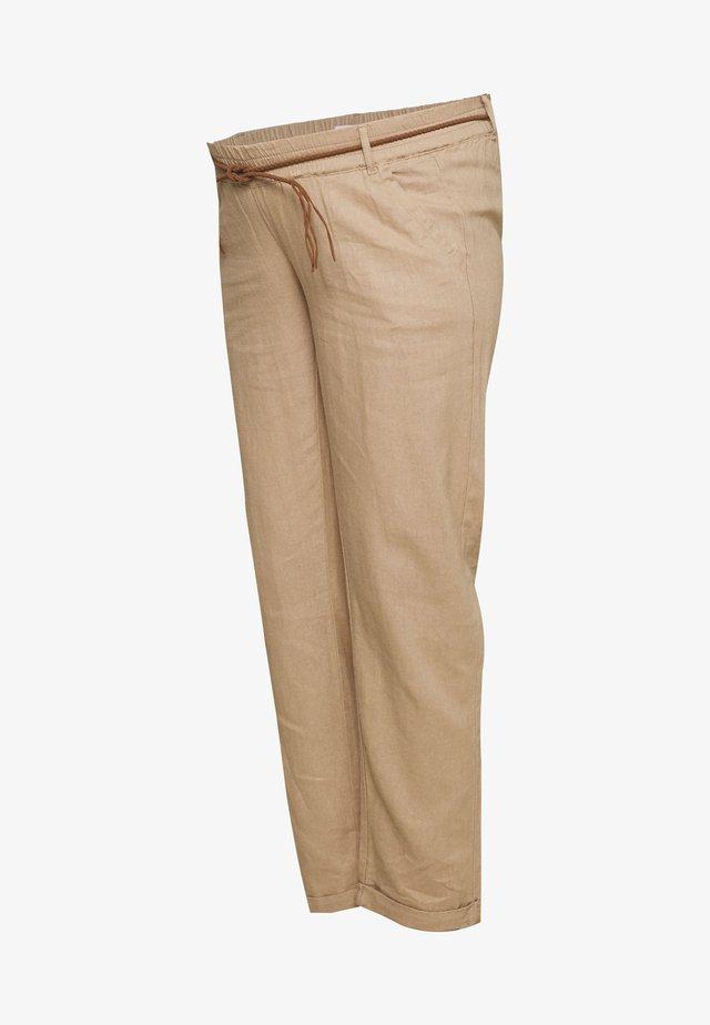 MLBEACH BELT PANT - Tygbyxor - brown