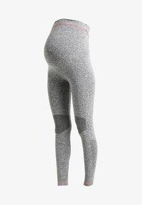 MAMALICIOUS - MLFIT ACTIVE TIGHTS - Leggings - Trousers - grey melange - 3