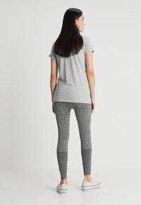 MAMALICIOUS - MLFIT ACTIVE TIGHTS - Leggings - Trousers - grey melange - 2