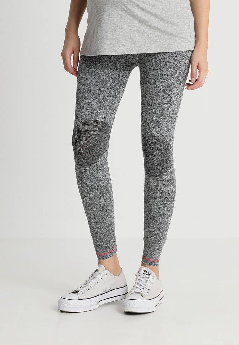 MAMALICIOUS - MLFIT ACTIVE TIGHTS - Leggings - Trousers - grey melange