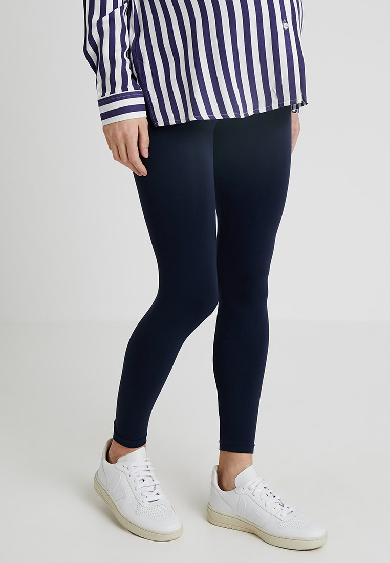 MAMALICIOUS - MLTIA JEANNE - Leggings - Trousers - navy blazer