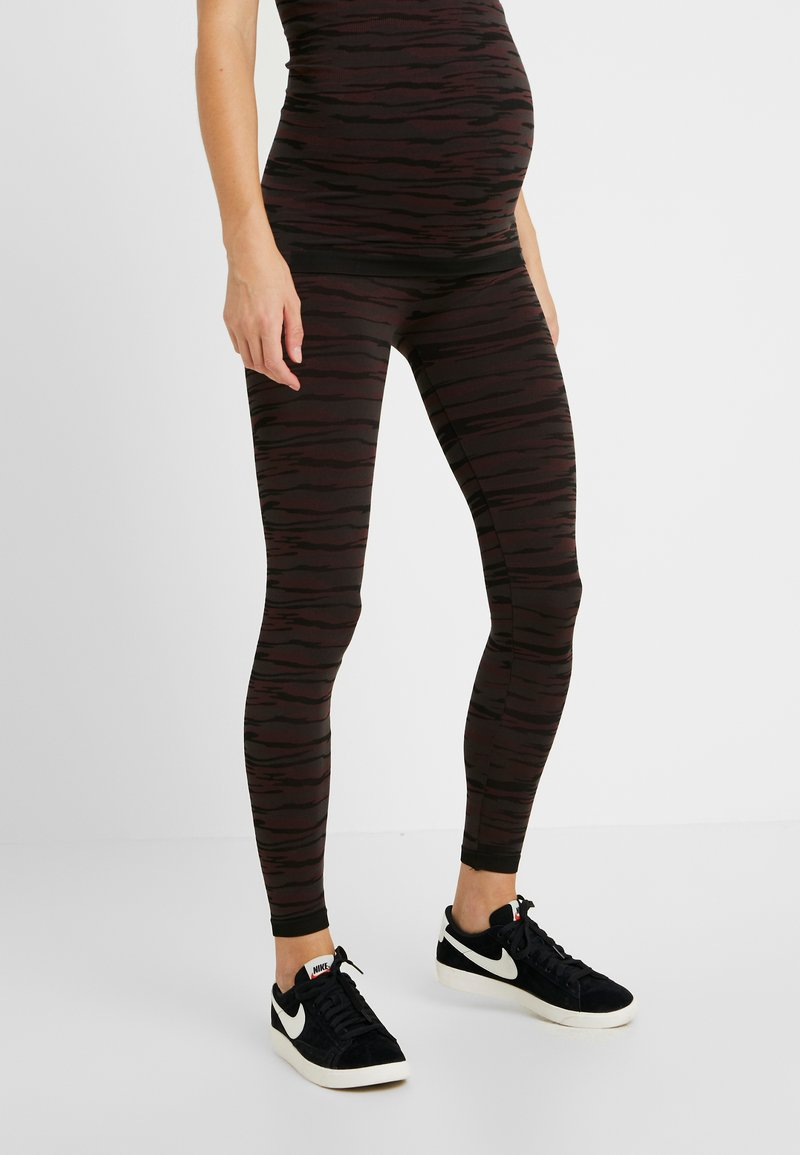 MAMALICIOUS - MLCAMOACTIVE TIGHTS - Leggings - Trousers - black