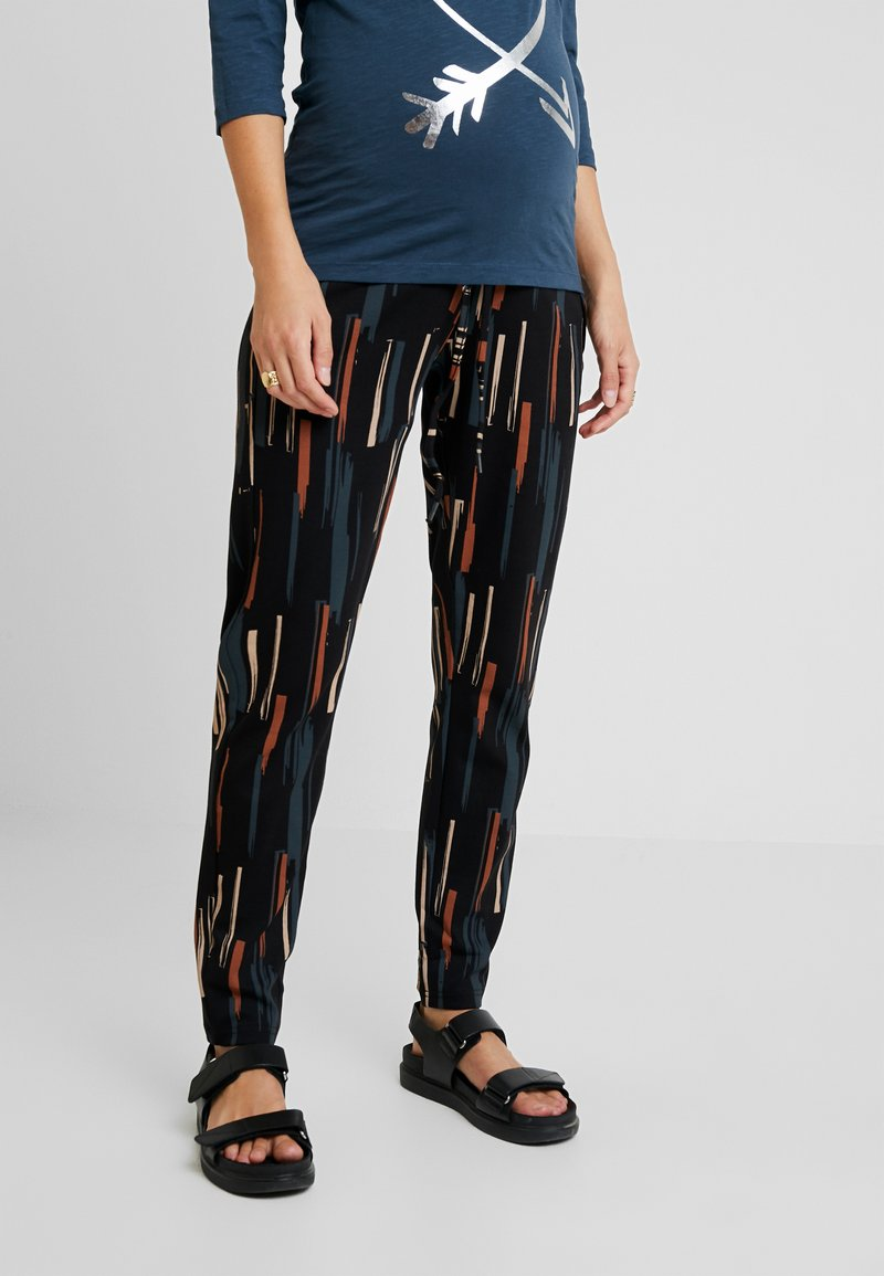 MAMALICIOUS - MLIVORY PANTS - Tracksuit bottoms - black/midnight navy