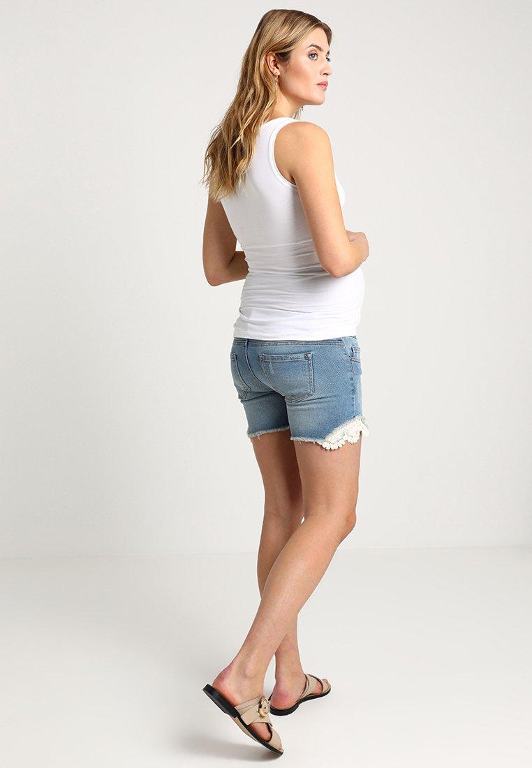 MAMALICIOUS MLCASIS - Szorty jeansowe - light blue denim