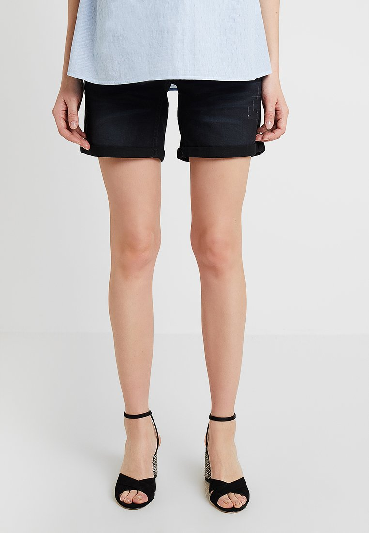 MAMALICIOUS - MLPAZ SLIM - Denim shorts - black denim