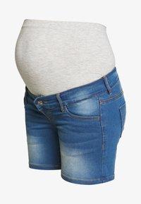 MAMALICIOUS - MLFIFTY  - Szorty jeansowe - medium blue denim - 3