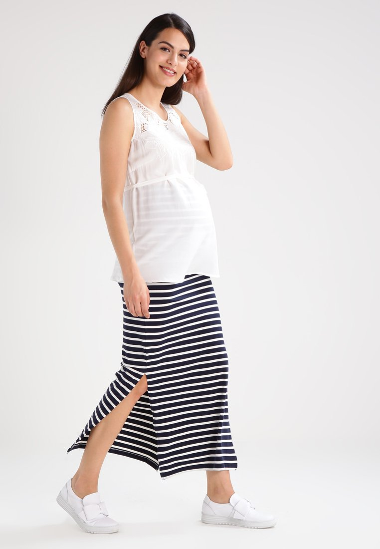 MAMALICIOUS MLLEA - Długa spódnica - navy blazer