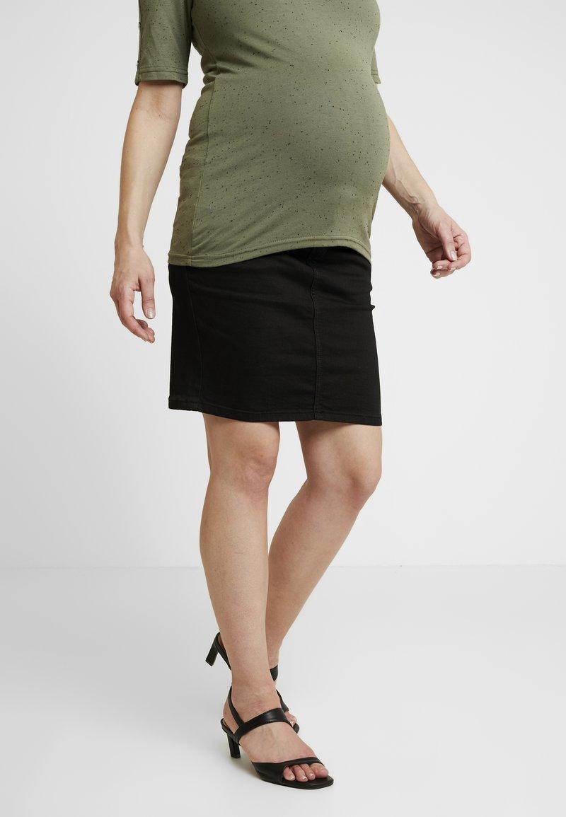 MAMALICIOUS - MLLOLA SLIM SKIRT - Denim skirt - black denim