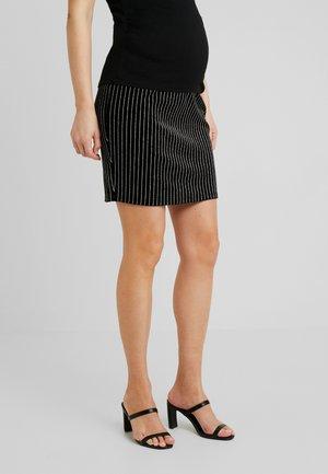 MLAURORA JERSEY SHORT SKIRT - Spódnica jeansowa - black