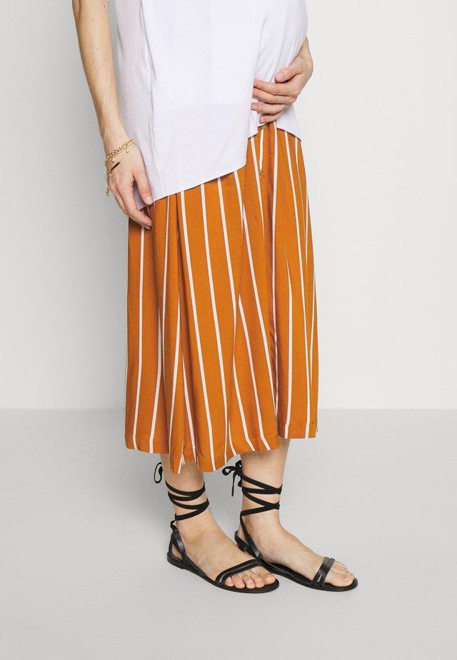 MLSINEM MIDI SKIRT - Pencil skirt - leather brown