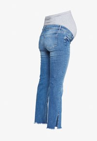MAMALICIOUS - MLCRYSTAL CROPPED - Vaqueros rectos - light blue denim - 1